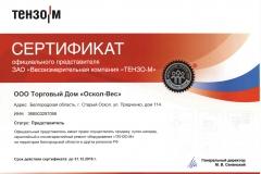 Сертификат представителя Тензо-М_2016