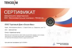 Сертификат представителя Тензо-М_2015